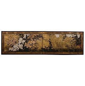 Very Rare Momoyama Period Masterpiece Japanese Screen